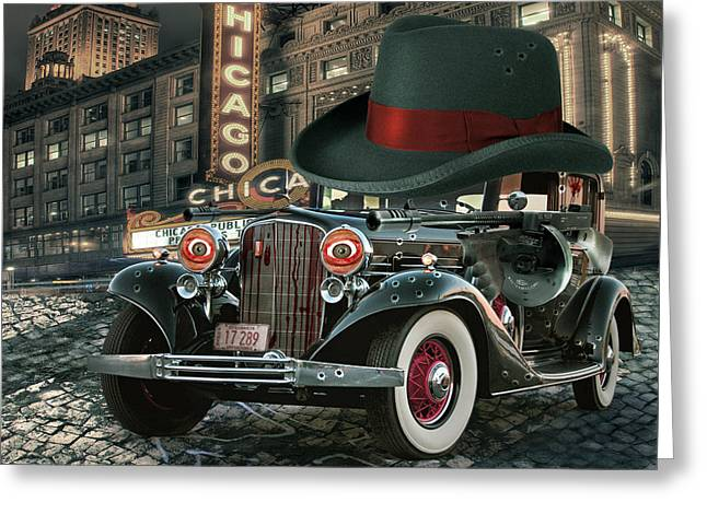 Digital Collage Greeting Cards - Don Cadillacchio Greeting Card by Marian Voicu