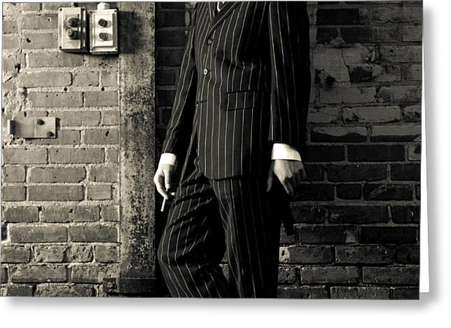 Gangster Greeting Card by Diane Diederich