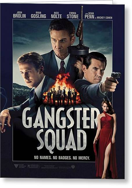 Movie Poster Gallery Greeting Cards - Gangster Squad Greeting Card by Movie Poster Prints
