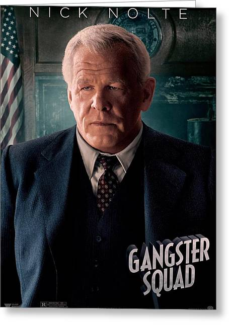 Movie Poster Gallery Greeting Cards - Gangster Squad Nolte Greeting Card by Movie Poster Prints
