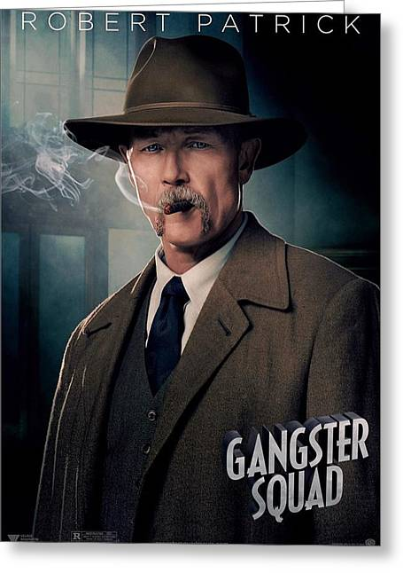 Movie Poster Gallery Greeting Cards - Gangster Squad Patrick Greeting Card by Movie Poster Prints
