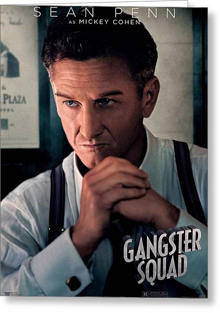 Movie Poster Gallery Greeting Cards - Gangster Squad Penn Greeting Card by Movie Poster Prints