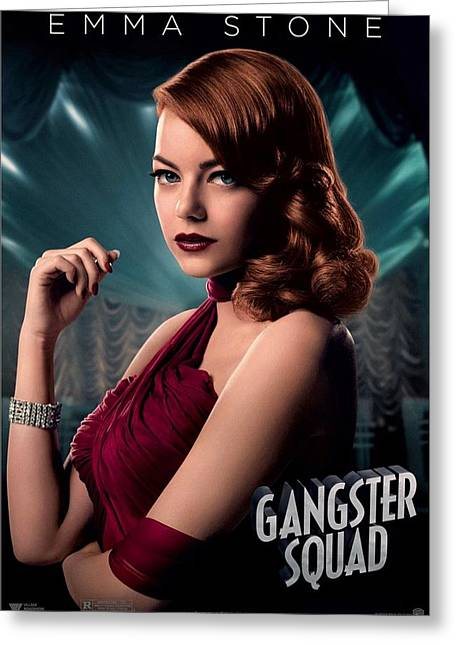 Movie Poster Gallery Greeting Cards - Gangster Squad  Stone Greeting Card by Movie Poster Prints