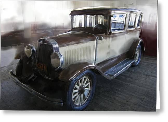 American Automobiles Greeting Cards - Gansgter Era Automobile Greeting Card by Daniel Hagerman