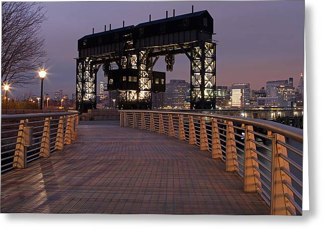 Gotham City Greeting Cards - Gantry Plaza - Long Island City - Queens - NY Greeting Card by Juergen Roth