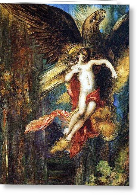 Abduction Greeting Cards - Ganymede Greeting Card by Gustave Moreau