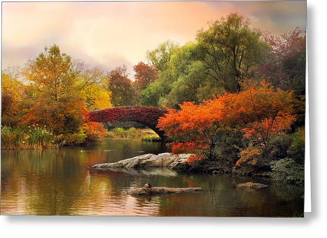 Footbridge Greeting Cards - Gapstow At Twilight Greeting Card by Jessica Jenney