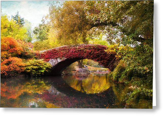 Bridge Greeting Cards - Gapstow Bridge  Greeting Card by Jessica Jenney