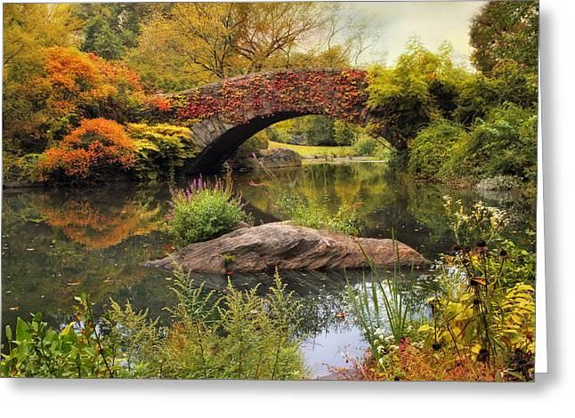 Gapstow Bridge Serenity Greeting Card by Jessica Jenney