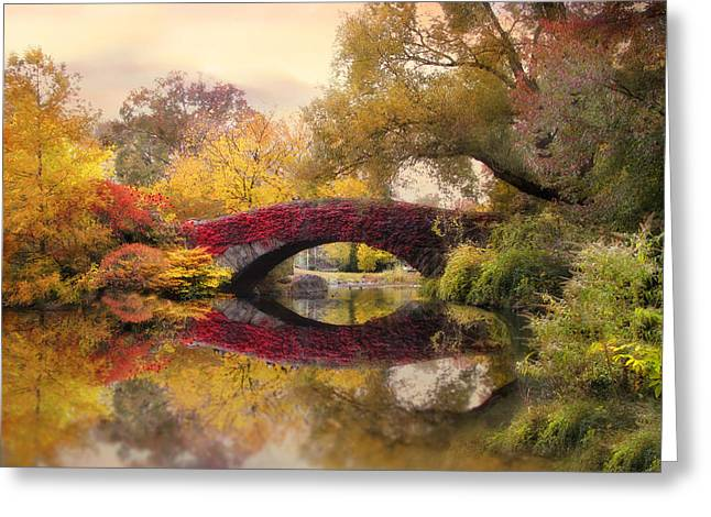 Bridge Greeting Cards - Gapstow in the Park Greeting Card by Jessica Jenney
