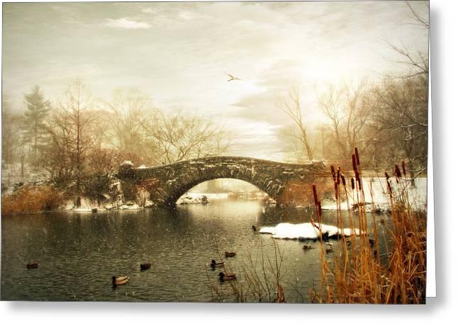 Gapstow Winter Greeting Card by Jessica Jenney
