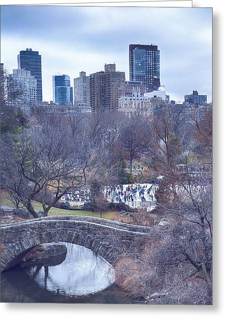 Wollman Rink Greeting Cards - Gaptstow and Wollmans Greeting Card by Rob Beverly