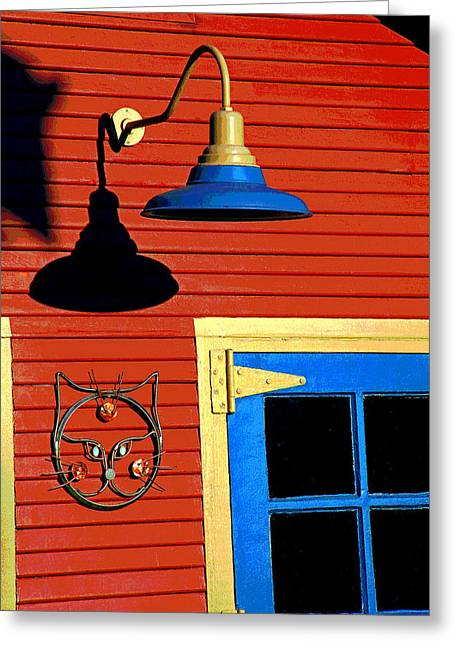 Audacity Greeting Cards - Garage Art Greeting Card by Mike Flynn