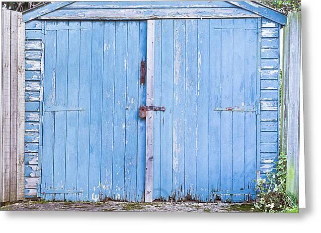 Slum Greeting Cards - Garage door Greeting Card by Tom Gowanlock