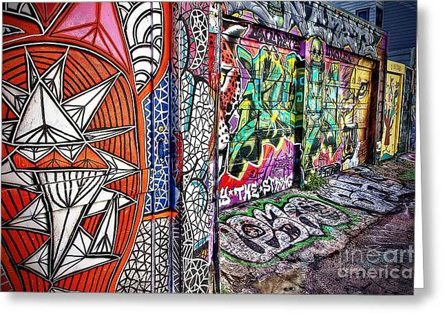 Plight Greeting Cards - Garage Doors Greeting Card by Andrew Brooks