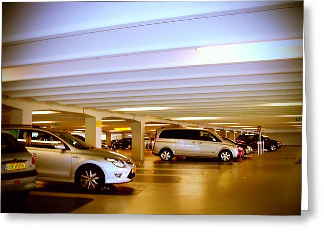 Klm Greeting Cards - Garage Schiphol Greeting Card by Yvon van der Wijk