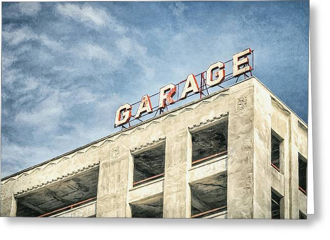 Garage Greeting Card by Scott Norris