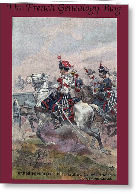 A Morddel Greeting Cards - Garde Imperiale 1857 with FGB border Greeting Card by A Morddel