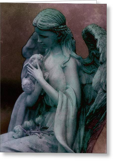 Wb Johnston Greeting Cards - Forest Angel 3 Greeting Card by WB Johnston