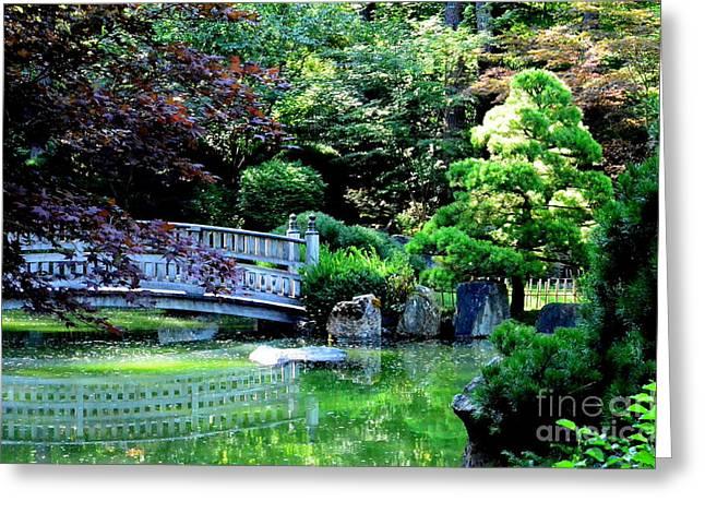 Spokane Greeting Cards - Garden Art Greeting Card by Greg Patzer