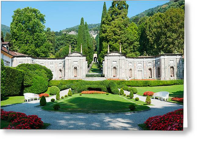 Villa Deste Greeting Cards - Garden At Villa Deste Hotel, Cernobbio Greeting Card by Panoramic Images