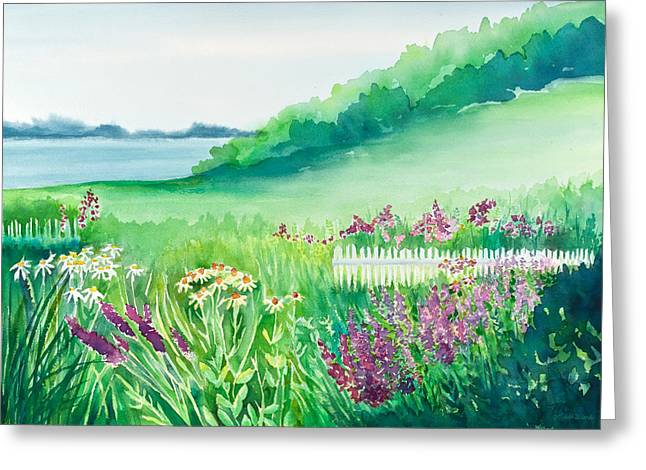 Garden By The Sea Greeting Card by Michelle Wiarda