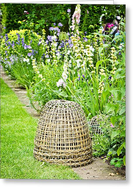 Fibre Greeting Cards - Garden decoration Greeting Card by Tom Gowanlock