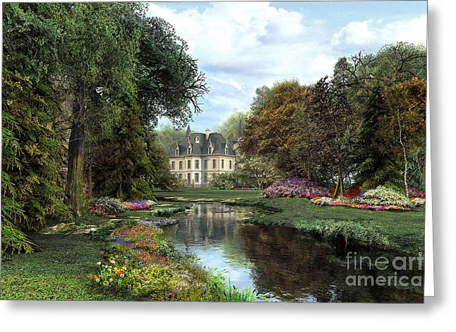 Stream Digital Art Greeting Cards - Garden Greeting Card by Dominic Davison