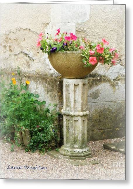 Garden Flowers Greeting Card by Lainie Wrightson