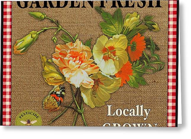 Locally Grown Digital Art Greeting Cards - Garden Fresh-JP2387 Greeting Card by Jean Plout
