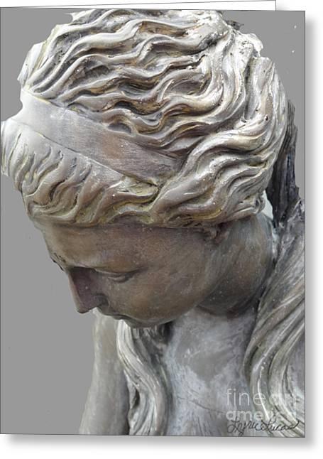 Greek Sculpture Greeting Cards - Garden Goddess Greeting Card by Lyric Lucas