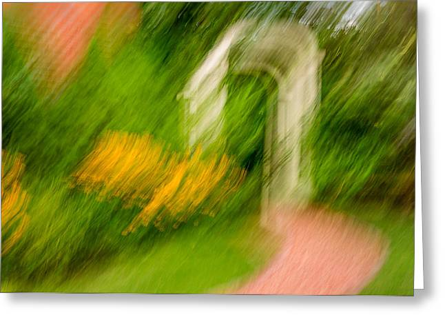 Trellis Greeting Cards - Garden Impression Greeting Card by Steve Harrington