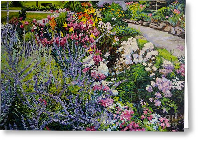 Bukowski Greeting Cards - Garden in Full Sun Greeting Card by William Bukowski