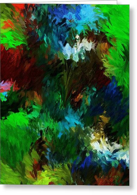 Garden In My Dream Greeting Card by David Lane