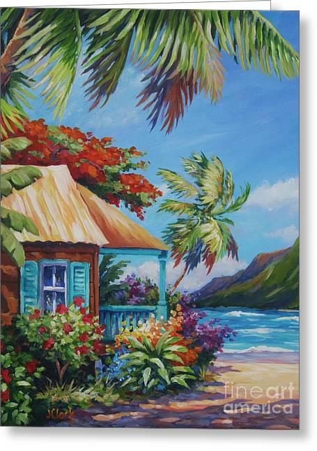 Garden Isle Greeting Card by John Clark