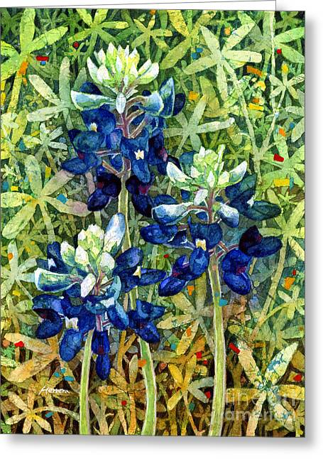 Texas Wild Flowers Greeting Cards - Garden Jewels I Greeting Card by Hailey E Herrera