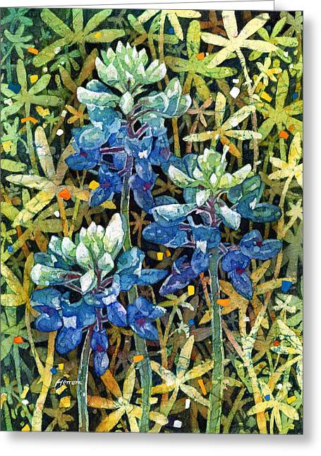 Texas Wild Flowers Greeting Cards - Garden Jewels II Greeting Card by Hailey E Herrera