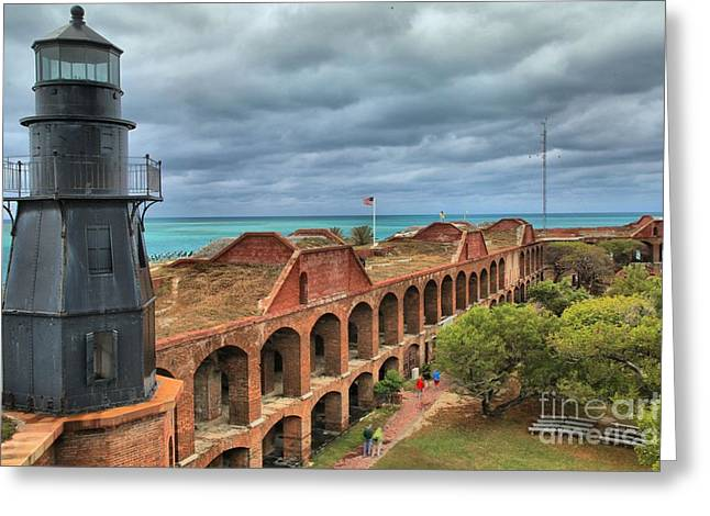Dry Tortugas Greeting Cards - Garden Key Light Greeting Card by Adam Jewell