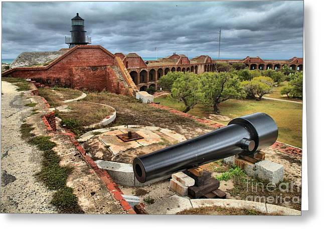 Dry Tortugas National Park Greeting Cards - Garden Key Light Defense Greeting Card by Adam Jewell
