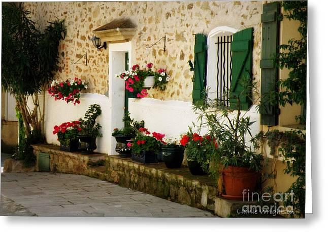 Garden Ledge Greeting Card by Lainie Wrightson