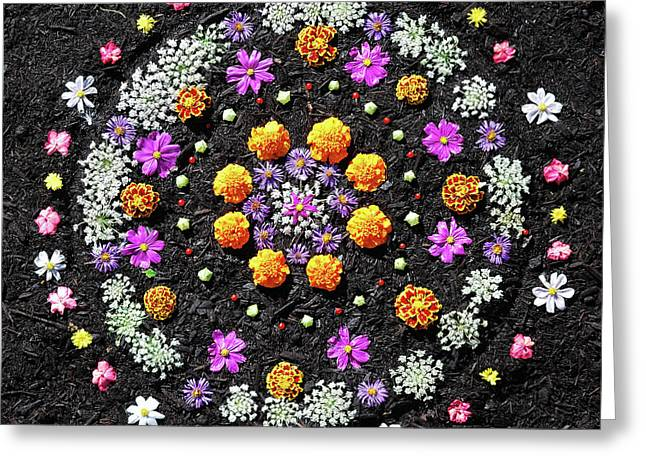 Garden  Mandala 2009  Greeting Card by Joseph Duba