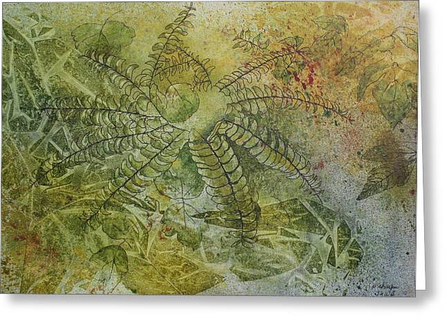 Patsy Sharpe Greeting Cards - Garden Mist Greeting Card by Patsy Sharpe