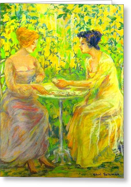 Pastimes Pastels Greeting Cards - Garden of Beauty Greeting Card by Shirl Solomon
