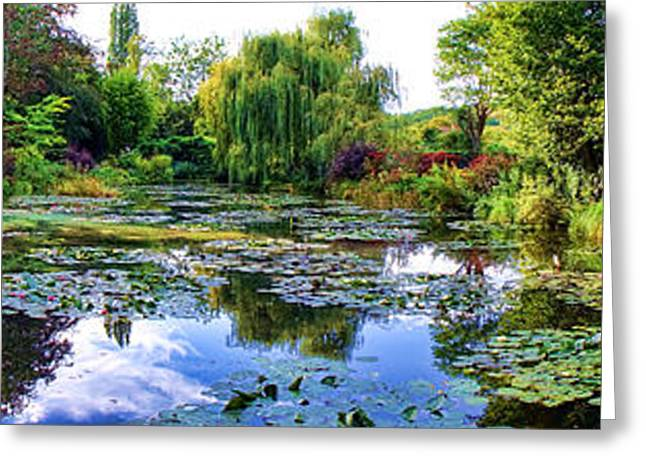 Water Garden Greeting Cards - Garden of Dreams Greeting Card by Olivier Le Queinec