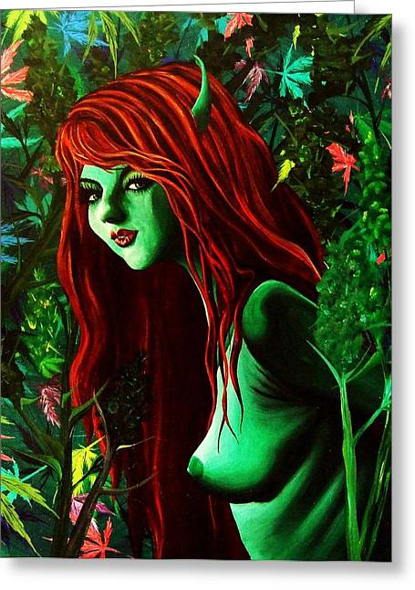 Cannibus Greeting Cards - Garden of Earthly Delights Greeting Card by Jessi Smith