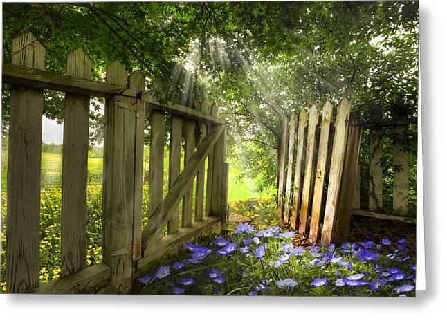 Tennessee Farm Greeting Cards - Garden of Eden Greeting Card by Debra and Dave Vanderlaan