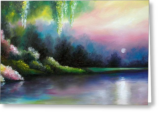 Luster Greeting Cards - Garden of Eden I Greeting Card by James Christopher Hill