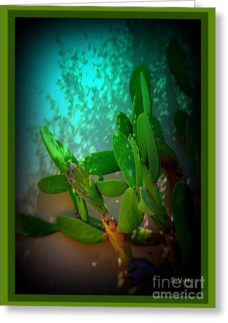 Botanical Greeting Cards - Garden of Eden Light Greeting Card by Susanne Van Hulst