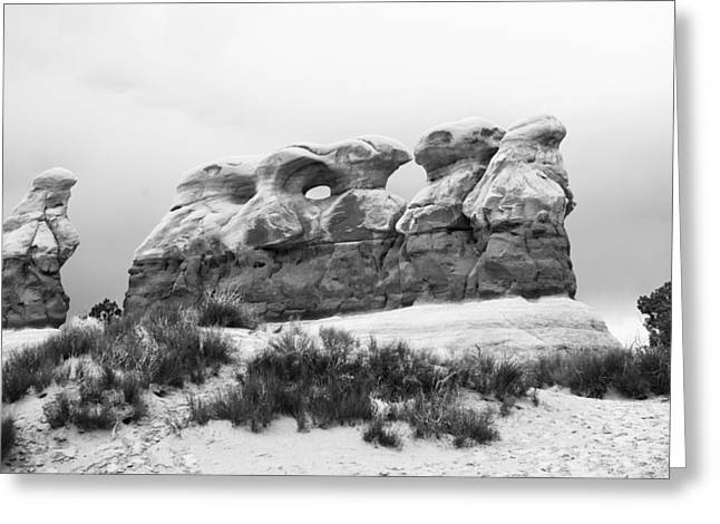 Holes In Sandstone Greeting Cards - Garden of Hoodoos Greeting Card by Gregory Scott