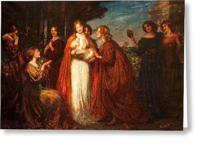 20th Greeting Cards - Garden Of Love Greeting Card by Thomas Edwin Mostyn